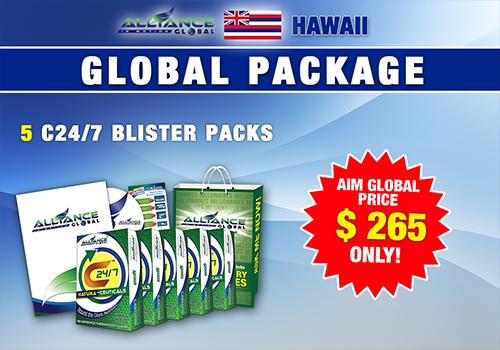 AIM GLOBAL hawaii usa package