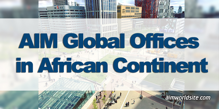 AIM Global Offices in African Continent as of 2016