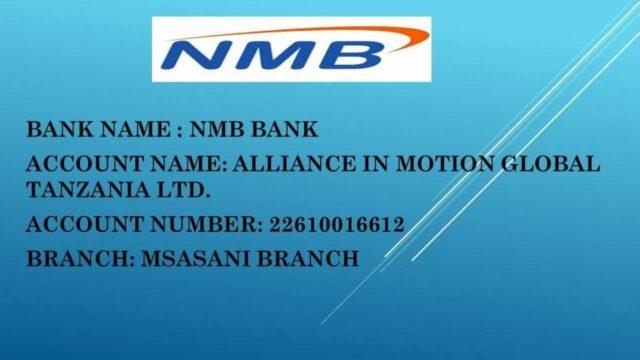 aim global tanzania bank account